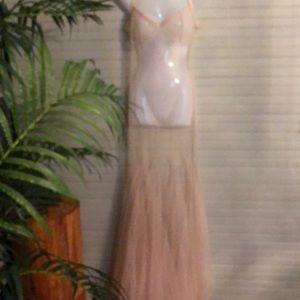 New Kiki Riki Nude Slip Dress Made in Turkey